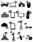 ikony bezdrátového sada