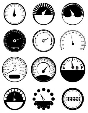 Speed Meter Icons Set