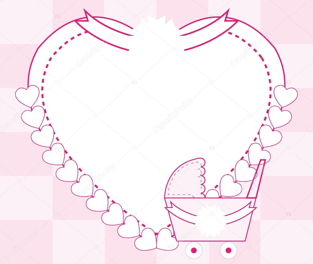 Baby girl frame — Stock Vector © sdp_creations #62896411