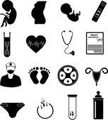 Fotografia Set di icone di gravidanza