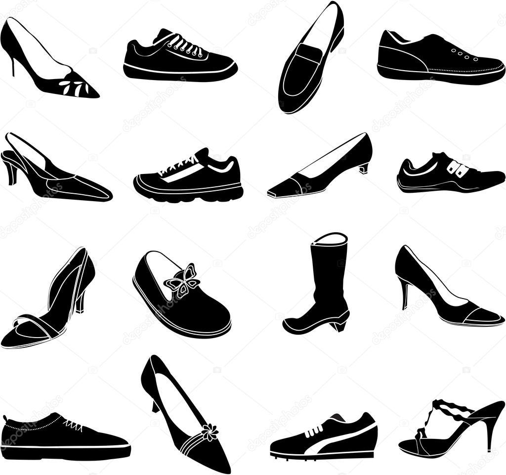 best service c728f f3c52 Set di icone scarpe — Vettoriali Stock © sdp_creations #65987401