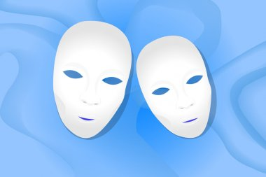 Theater masks background