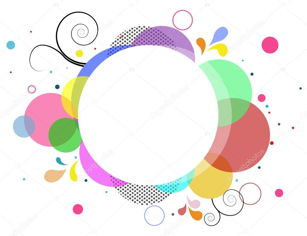 Color Abstract Vector Background Text Frame Stock Vector: Abstract Colorful Frame Background