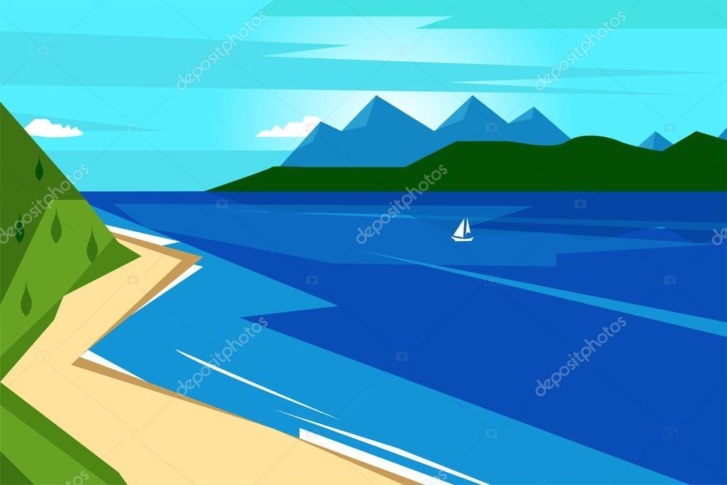 River nature landscape background