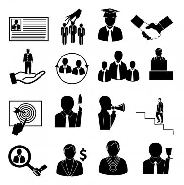 Carees staff icons set