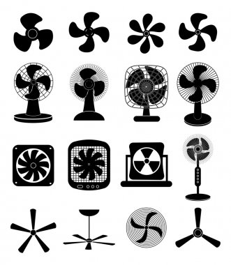 Fans icons set