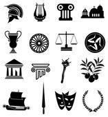 Photo Rome Greek icons set