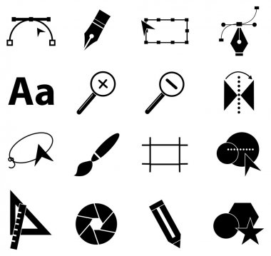 Graphic design icons set