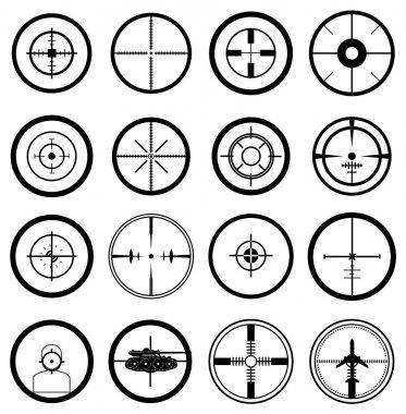 Aim target icons set