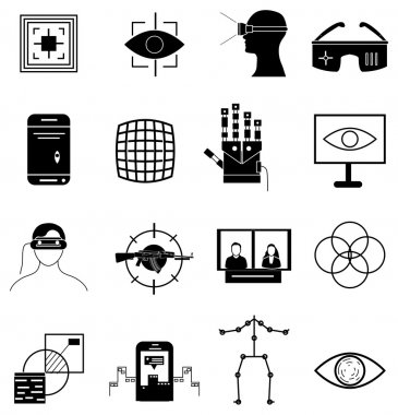 Virtual reality icons set