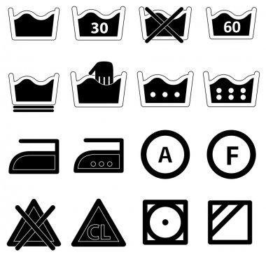 washing icons set