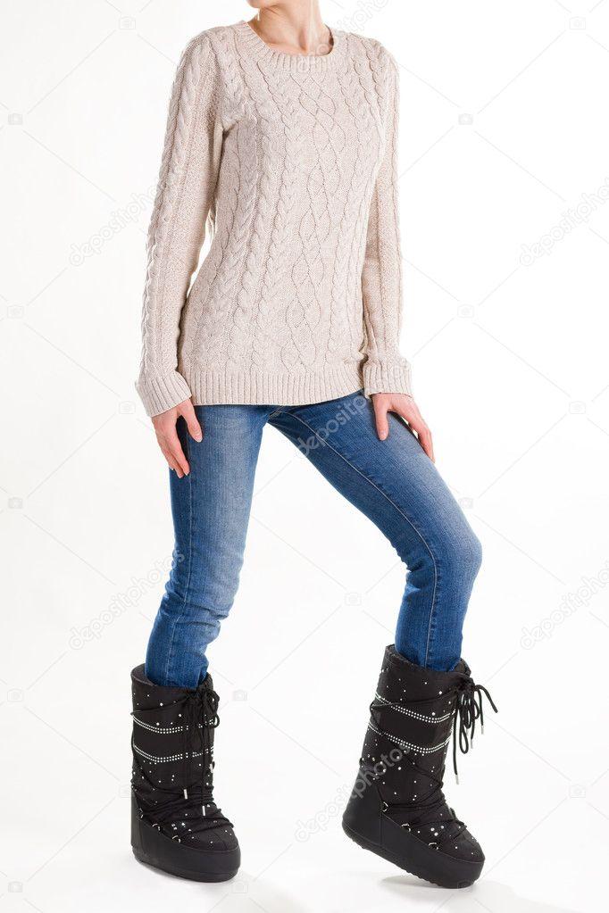 695c47a2466e Άνετο χειμώνα μόδας γυναικεία ρούχα — Φωτογραφία Αρχείου ...