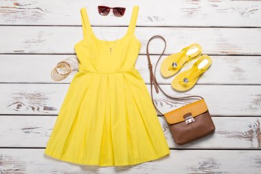 Collection of women's summer clothes.