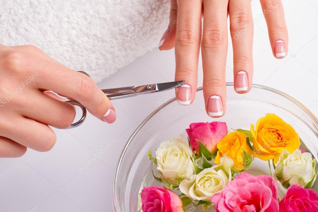 Nail care. Circumcision of cuticle.
