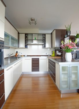 Interior of stylish kitchen