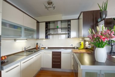 Interior of stylish kitchen