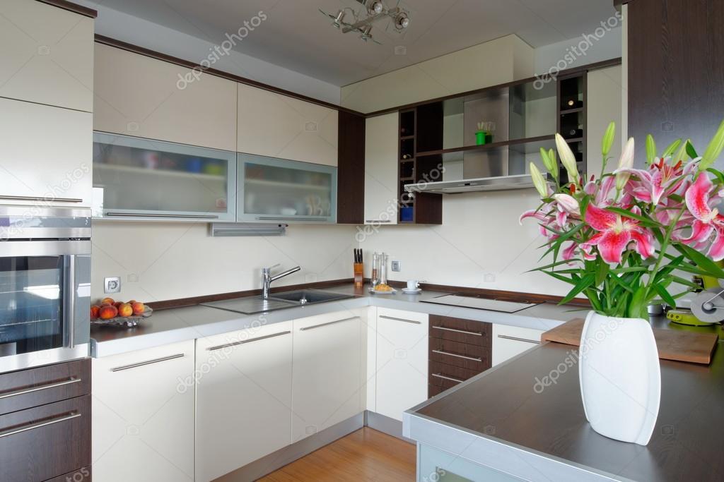 Інтер єр стильні кухні — Стокове фото — білий © vision.si  57241087 649326c4eb7a9