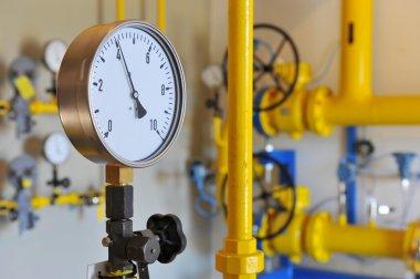 Closeup of pressure meter