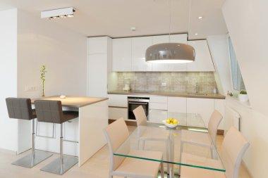 Interior of stylish modern house