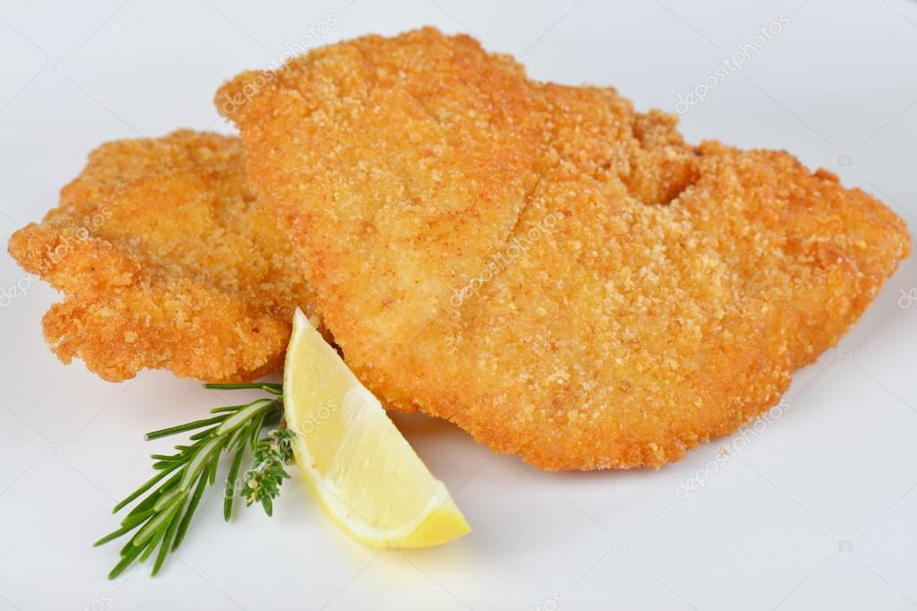 Steak Schnitzel isolated, escalope meat