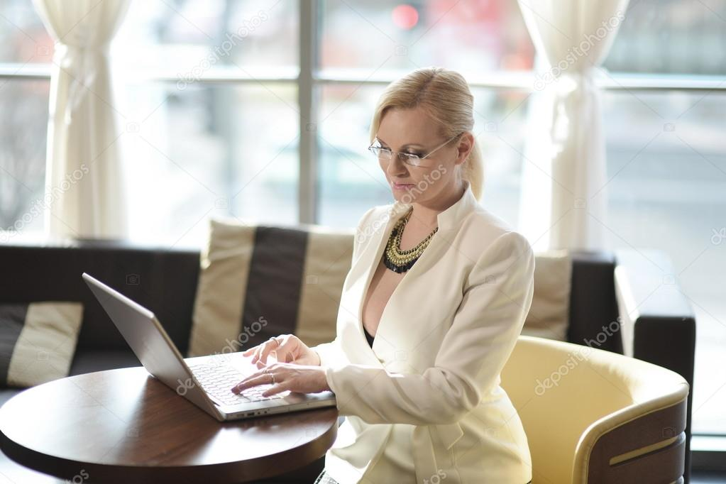 Successful and atractive middle aged businesswoman