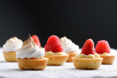 crusty French fruit tarts