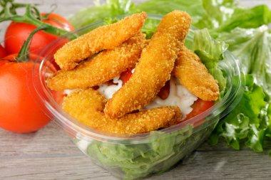 fast food chicken salad