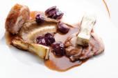 Dobré jídlo, gurmán hlavní entrée kurz grilované jehněčí steak