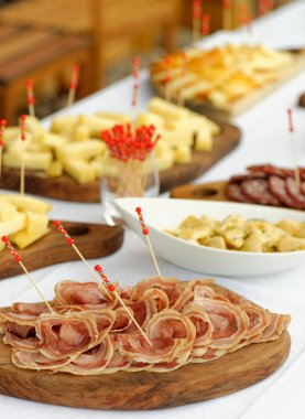 Catering, assorted meats and sausages