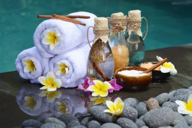 At the Spa, concept in a luxury Villa on Bali Island