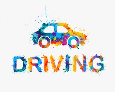 Driving school logo.