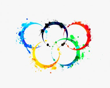 Olympic Rings of splash paint