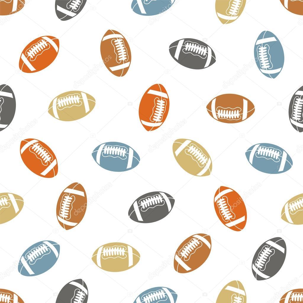 Patrón sin fisuras de fútbol americano (rugby) — Vector de stock ...