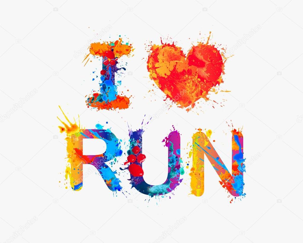 Eu amo correr — Vetores de Stock © Ukususha #116363942