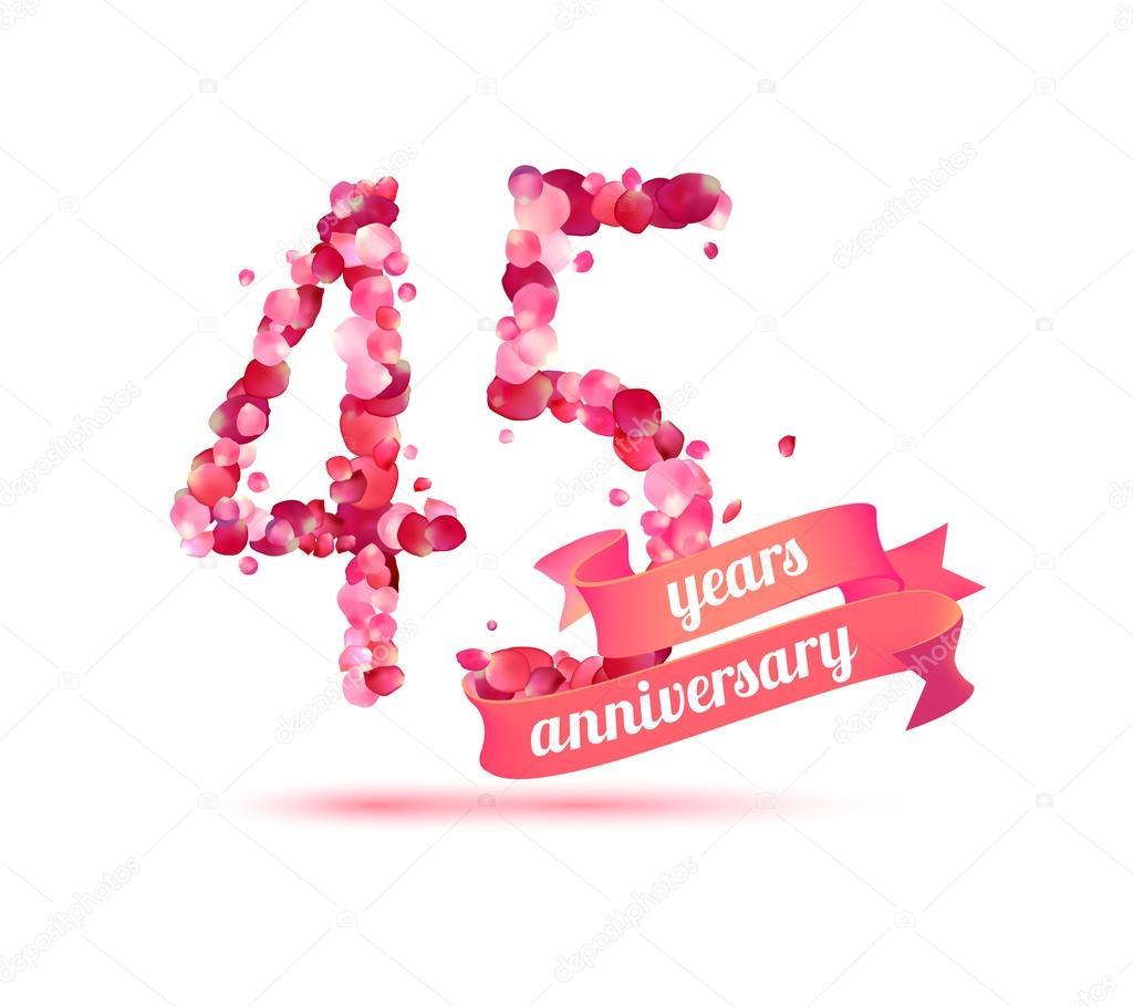 Vijfenveertig 45 Jaar Verjaardag Stockvector C Ukususha 123677218