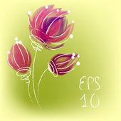 Akvarel květiny karta