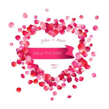 Vector wedding invitation. Inscription: Save the date.