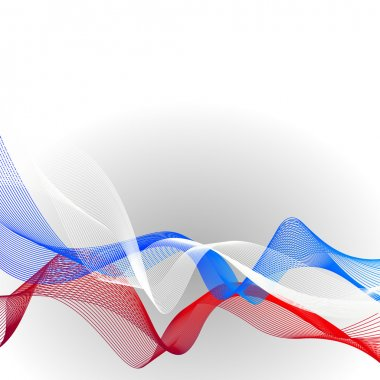 Vector template linear background with tricolor to celebrate June 12 - Independence Day of Russian and 4 November - Day of Military Glory.
