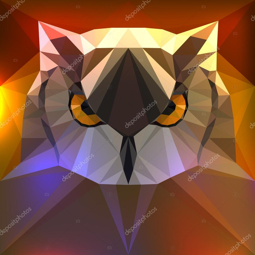 Vector illustration - face of a owl