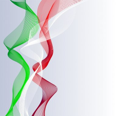 Vector template linear background with tricolor to celebrate June 2 - Italian Republic Day