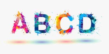 Alphabet. Letters A, B, C, D.