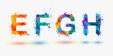 Alphabet. Letters E, F, G, H.