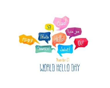 Holiday November 21 - World hello day.