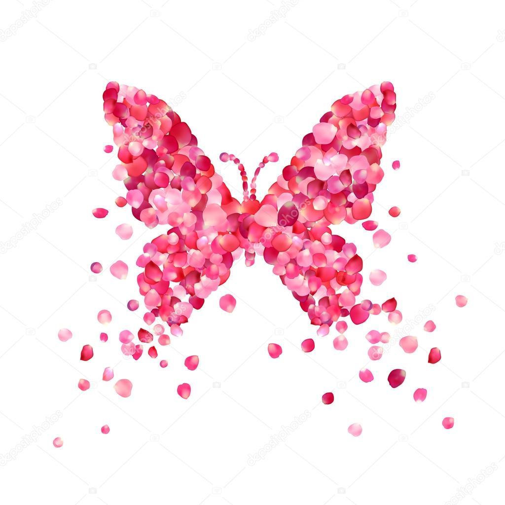Resultado de imagen de petalos y mariposas