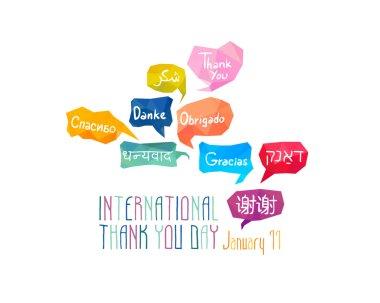 Holiday January 11 - International Thank You day.