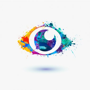 Eye icon splash paint