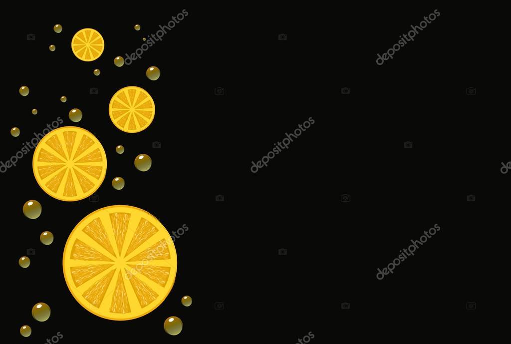 Citrusy mandarin or lemon background for text