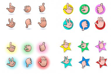 Hand gestures  Icons, icons and design elements