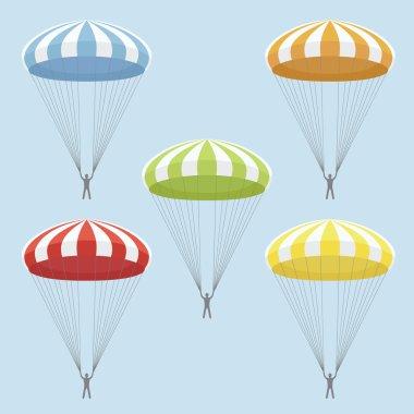 Vector set of  parachutes