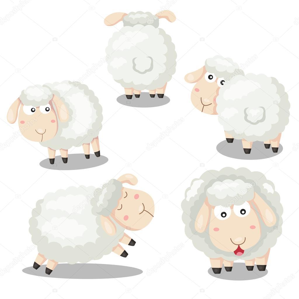 Desenhista De Desenho Animado Ovelhas Vetores De Stock